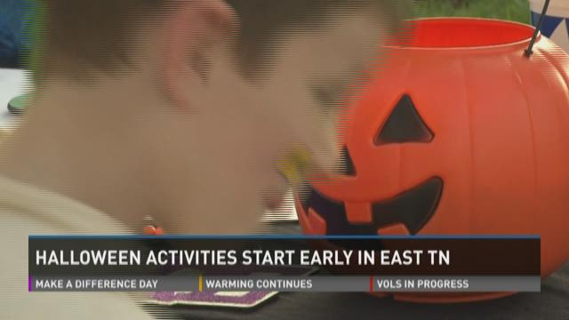 Families take in Halloween a week early