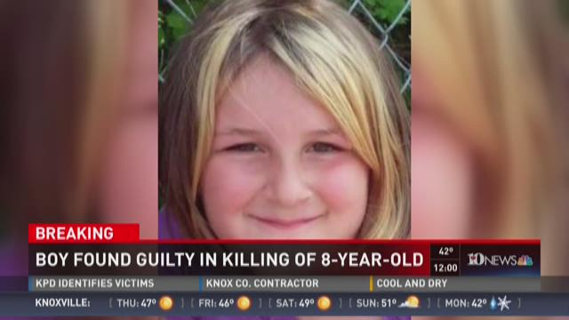 Boy found guilty in killing of 8-year-old