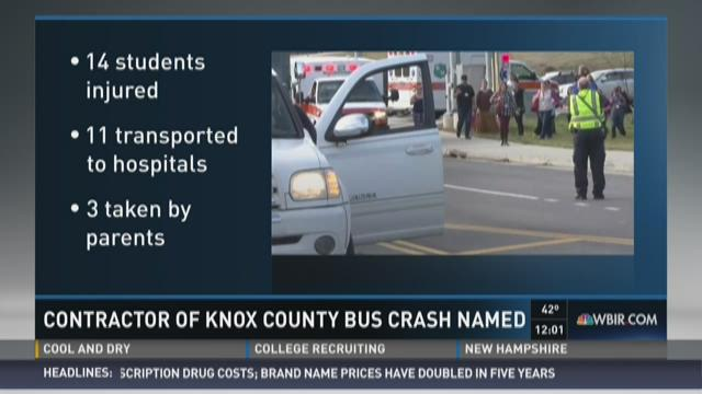 Contractor of Knox County bus crash named