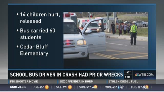 School bus driver in crash had prior accidents