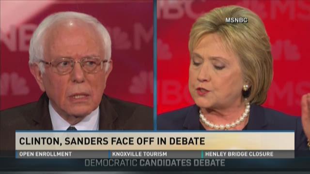 Clinton, Sanders face off in debate