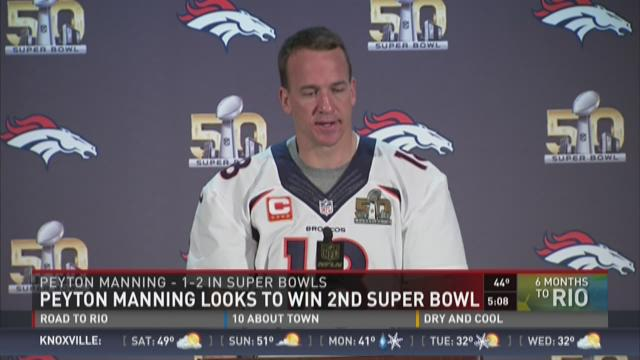 Peyton Manning looks to win 2nd Super Bowl