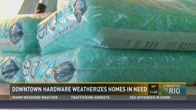 Downtown Hardware weatherizes homes in need
