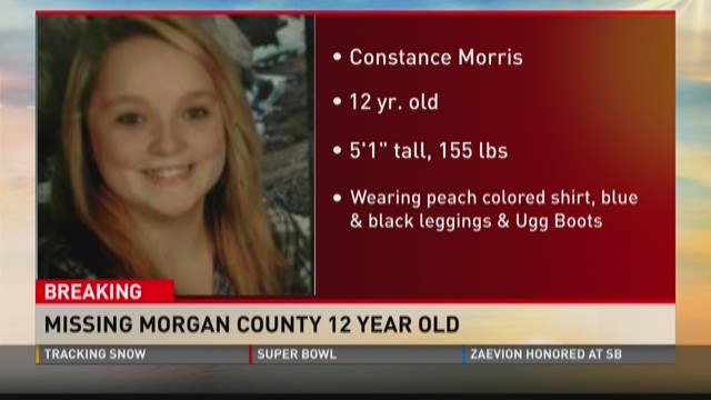 Missing Morgan County 12-year-old