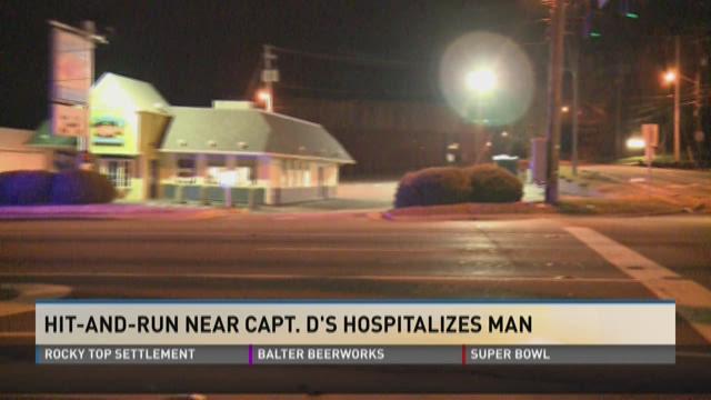 Hit-ane-run near Captain D's hospitalizes man