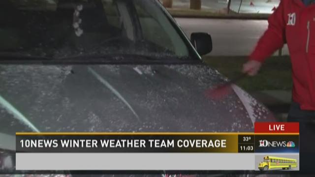 Scattered snow expected overnight Tuesday