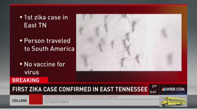 First Zika case confirmed in East Tennessee