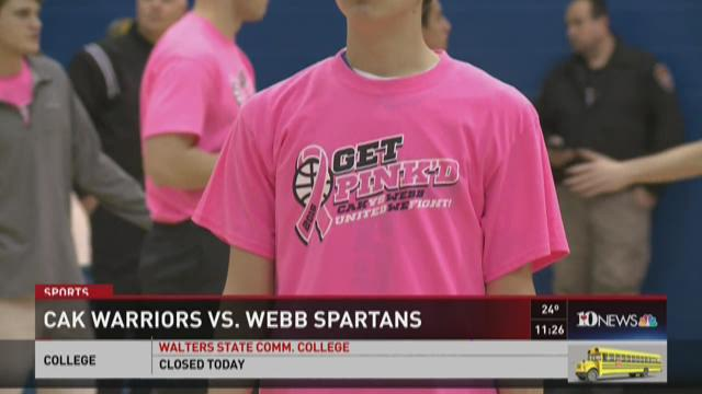 CAK hosts Webb in 'Get Pink'd' game