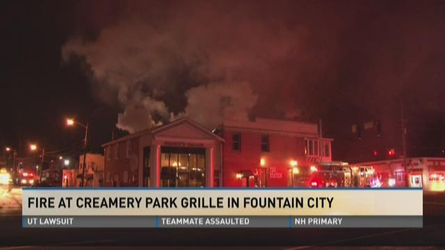 Fire at Cremery Park Grille in Fountain City