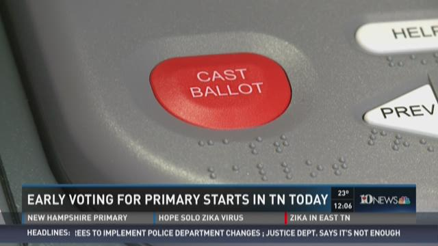 Early voting for primary starts in Tennessee