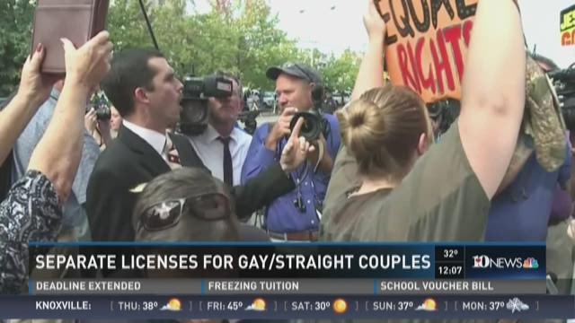 Separate licenses for gay/straight couples