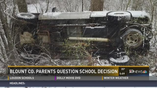 Blount County parents question school decision