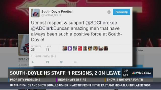 South-Doyle HS Staff: One resigns, two on leave