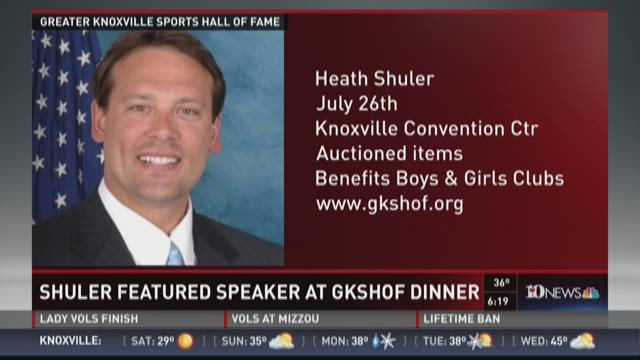 Heath Shuler featured speaker at GKSHOF ceremony