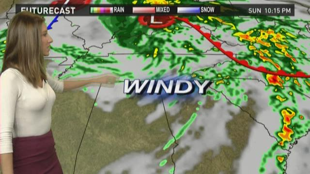 Winds pick up Sunday night, continue through Monday