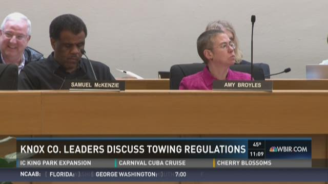 Knox County leaders discuss towing regulations