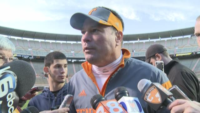 Butch Jones after Sunday's bowl practice