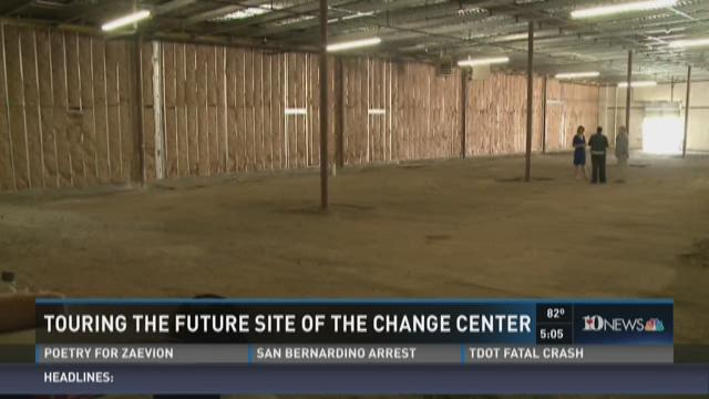 Touring the future site of the Change Center