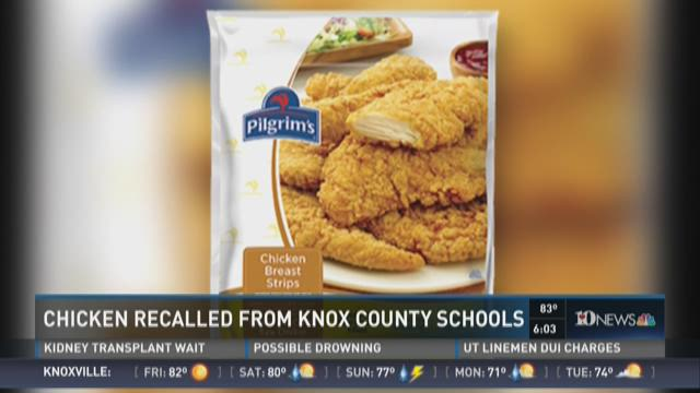 Chicken recalled from Knox County Schools