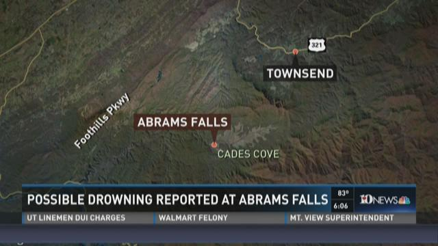 Possible drowning reported at Abrams Falls