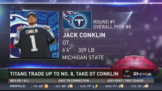 Titans pick OT Jack Conklin