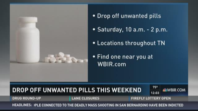 Drop off unwanted pills this weekend