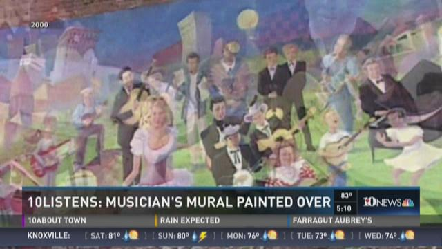 10Listens: Musician's mural painted over