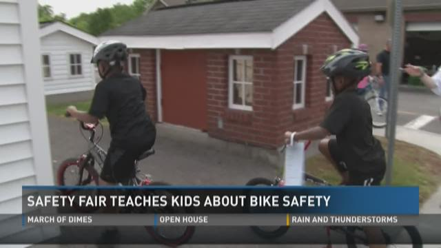 Safety fair teaches kids about bike safety