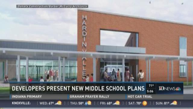 Developers present new middle school plans