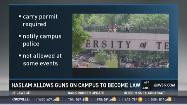 Haslam allows guns on campus bill to become law