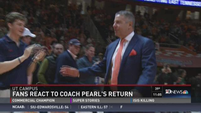Vol fans call Coach Pearl's return emotional, bittersweet