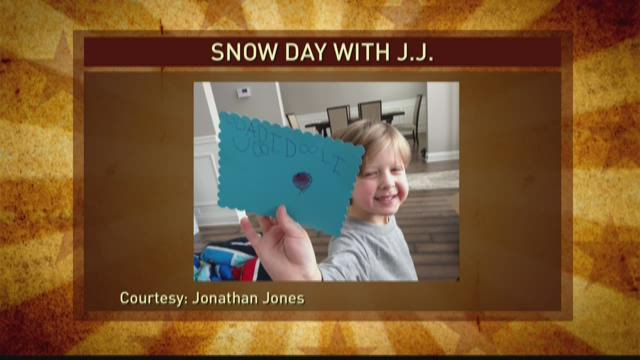 "Snow Day turns J.J. into ""Mr. Mom"""