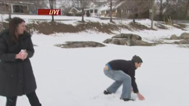 Live at Five at 4 Snowball Fight