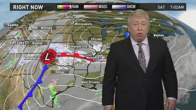 Warmer this weekend with a chance of rain