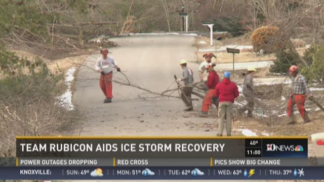 Ice storm victims receive free help from military veterans