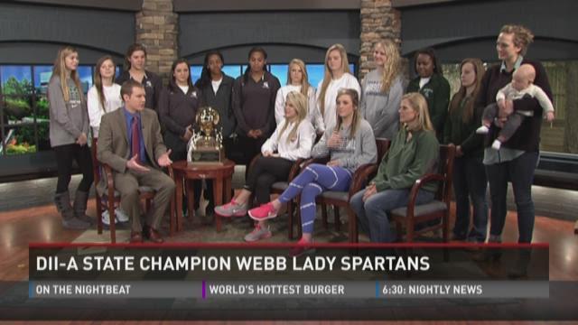 State Champion Webb Lady Spartans visit WBIR studios
