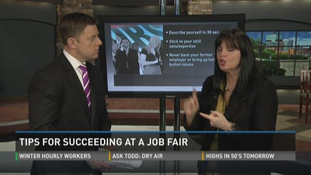 Tips for succeeding at a job fair.