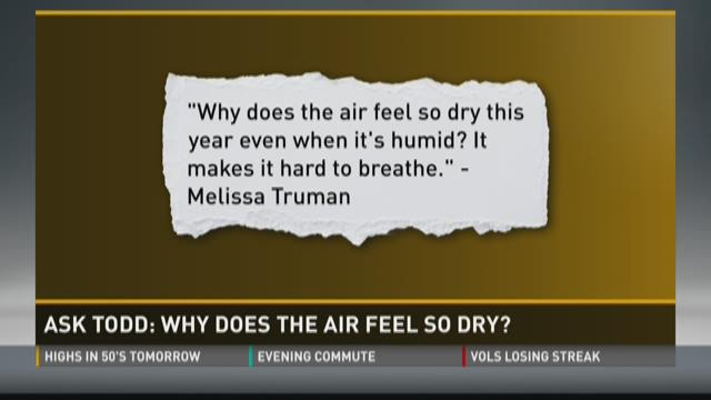 Ask Todd: Why does the air feel so dry?