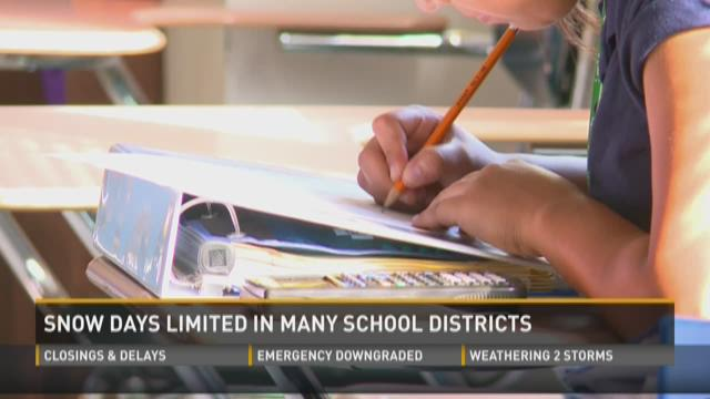Snow days limited in many school districts