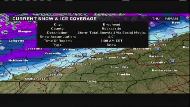 Wintry mix tapers off after lunchtime