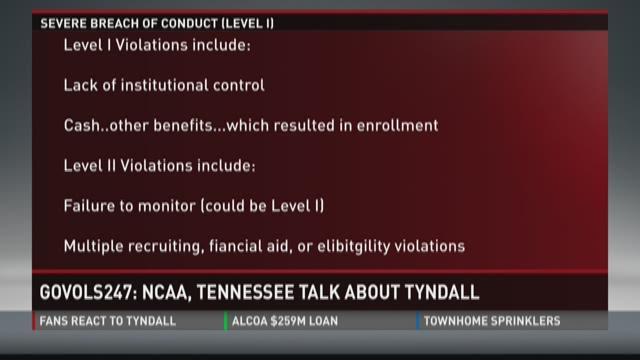NCAA calls UT about Tyndall