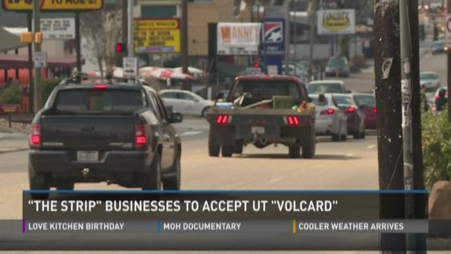 'Strip' businesses to accept UT 'VolCard'