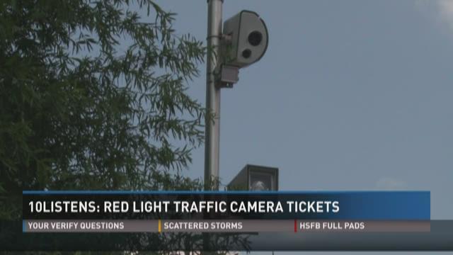 10Listens: Red light traffic camera tickets | WBIR.com