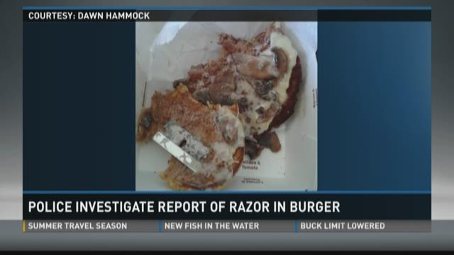 Scott County woman reports finding blade in burger