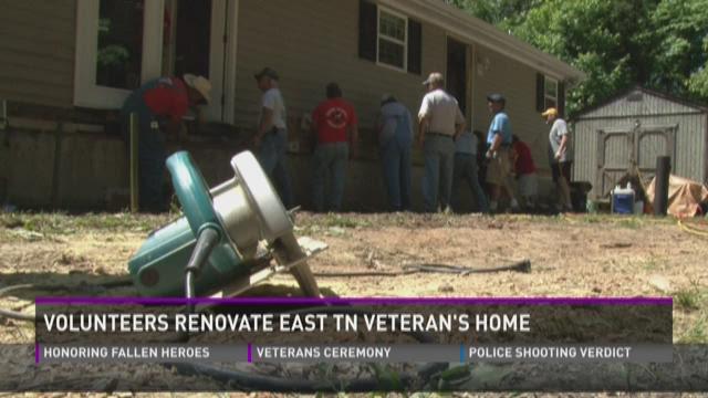 Volunteers renovate East Tennessee veteran's home