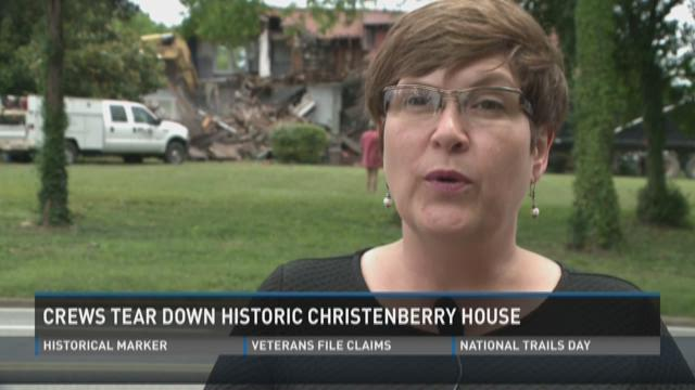 Christenberry House torn down