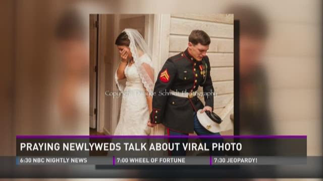 Newlyweds talk about viral photo