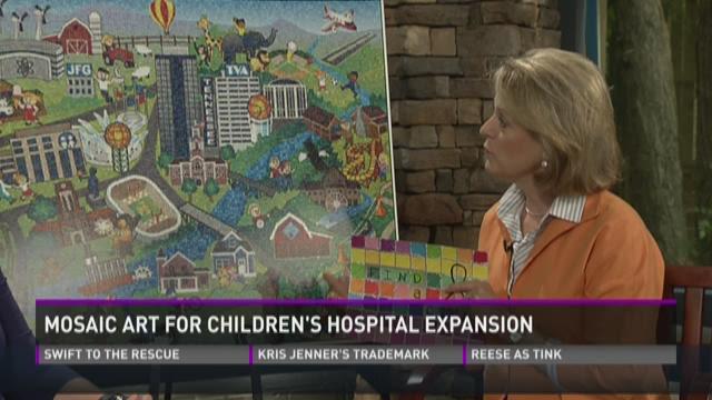 Mosaic Art for Children's Hospital expansion
