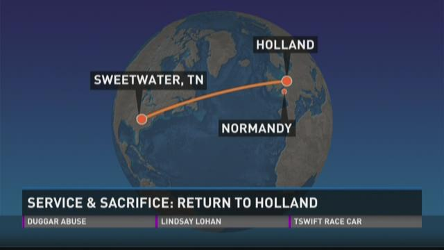 Service & Sacrifice Return to Holland