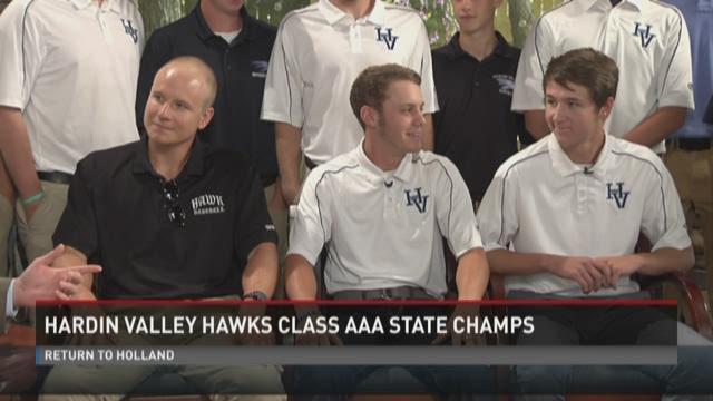 State Champion Hardin Valley Hawks visit WBIR